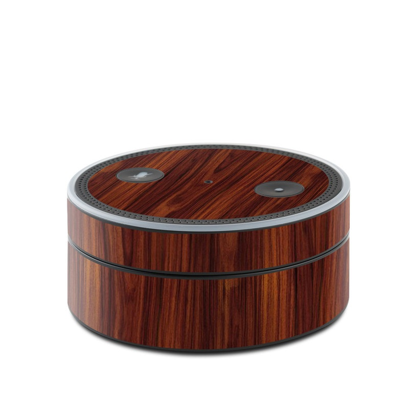 Dark Rosewood Amazon Echo Dot Skin