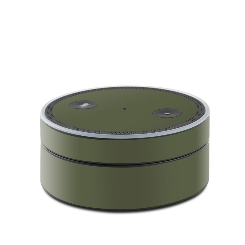 Solid State Olive Drab Amazon Echo Dot Skin