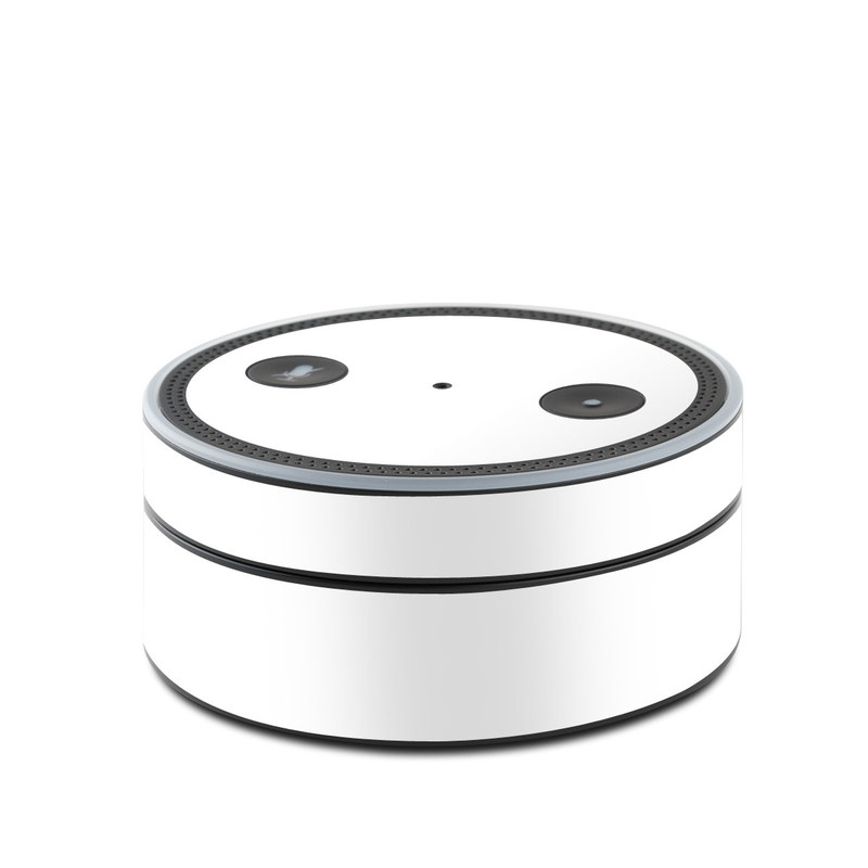 Solid State White Amazon Echo Dot 1st Gen Skin