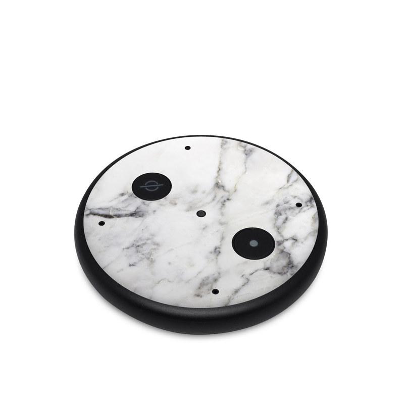 Amazon Echo Input Skin design of White, Geological phenomenon, Marble, Black-and-white, Freezing with white, black, gray colors