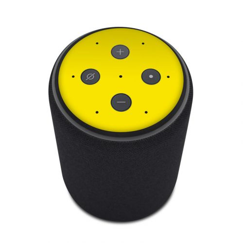 Solid State Yellow Amazon Echo Plus 2nd Gen Skin