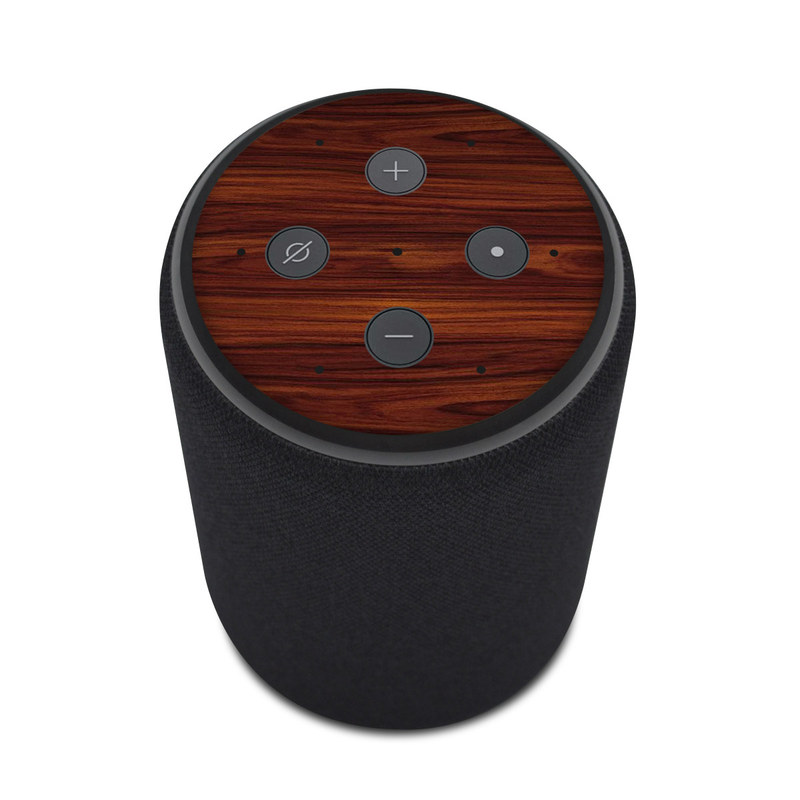 Amazon Echo Plus 2nd Gen Skin design of Wood, Red, Brown, Hardwood, Wood flooring, Wood stain, Caramel color, Laminate flooring, Flooring, Varnish with black, red colors