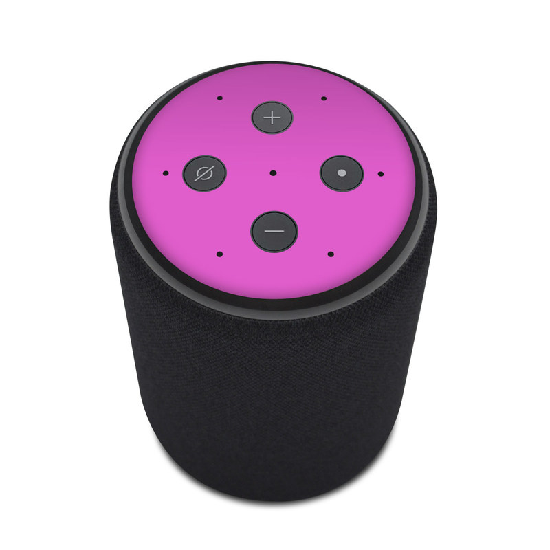 Amazon Echo Plus 2nd Gen Skin design of Violet, Pink, Purple, Red, Lilac, Magenta, Blue, Lavender, Text, Sky with pink colors