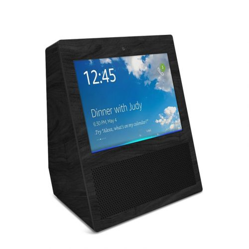Black Woodgrain Amazon Echo Show Skin