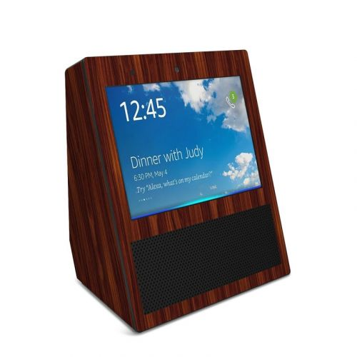 Dark Rosewood Amazon Echo Show Skin