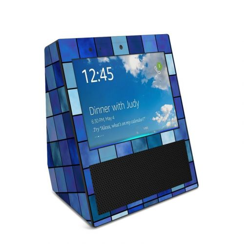 Blue Mosaic Amazon Echo Show Skin