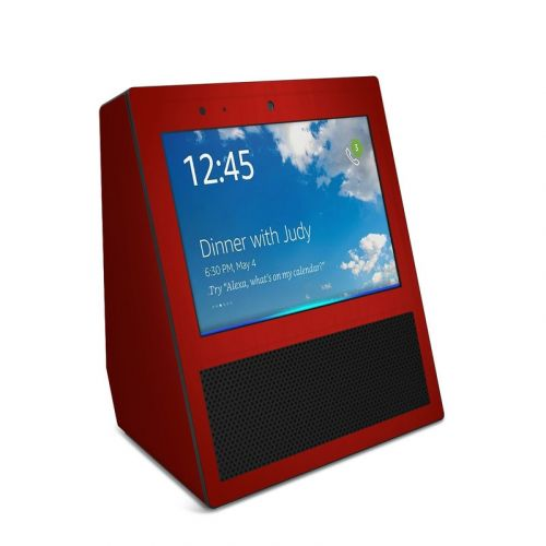 Red Burst Amazon Echo Show Skin