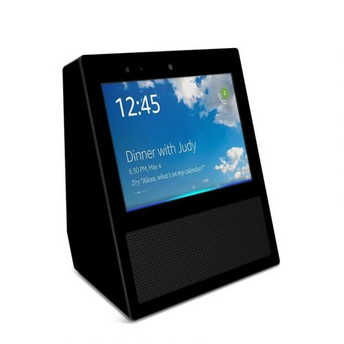 Solid State Black Amazon Echo Show Skin