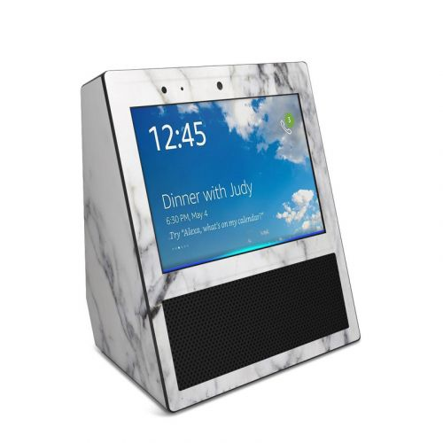 White Marble Amazon Echo Show Skin