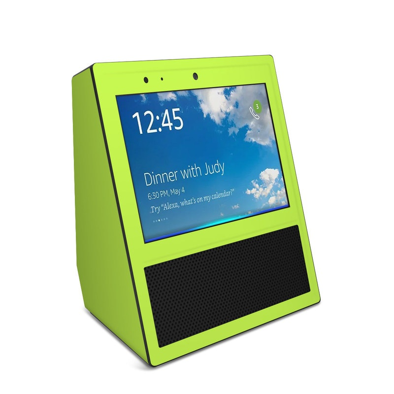 Solid State Lime Amazon Echo Show Skin