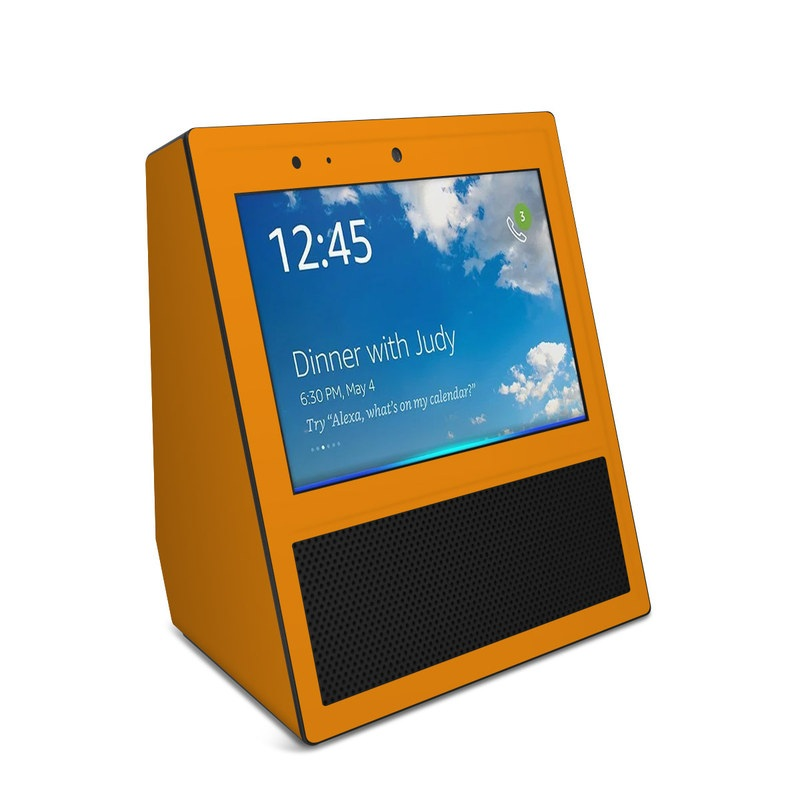 Solid State Orange Amazon Echo Show Skin