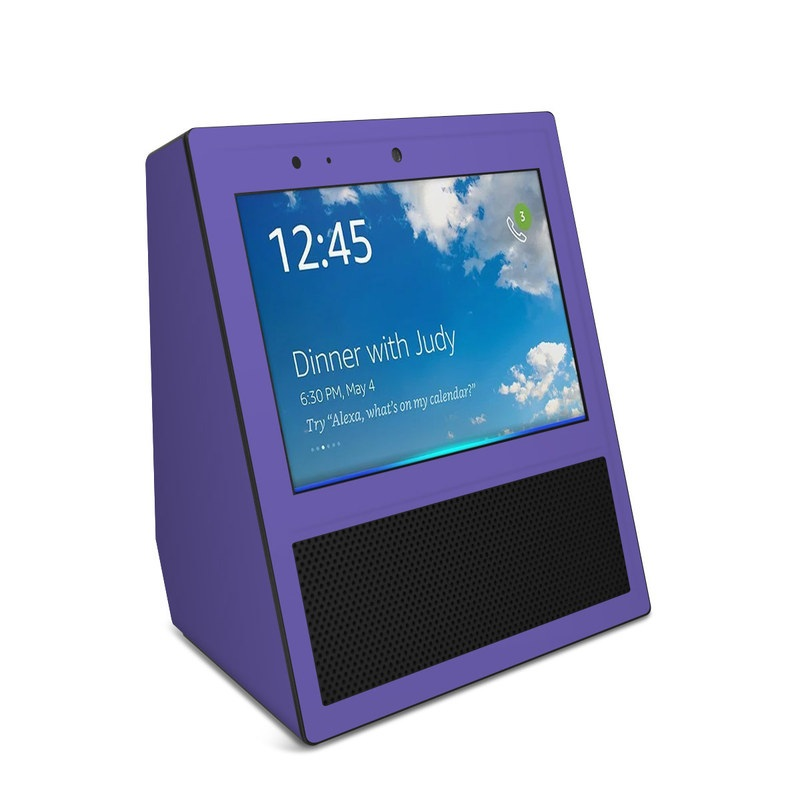 Solid State Purple Amazon Echo Show Skin