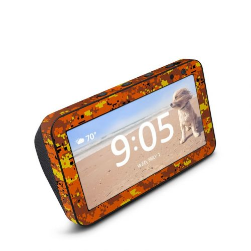 Digital Orange Camo Amazon Echo Show 5 Skin