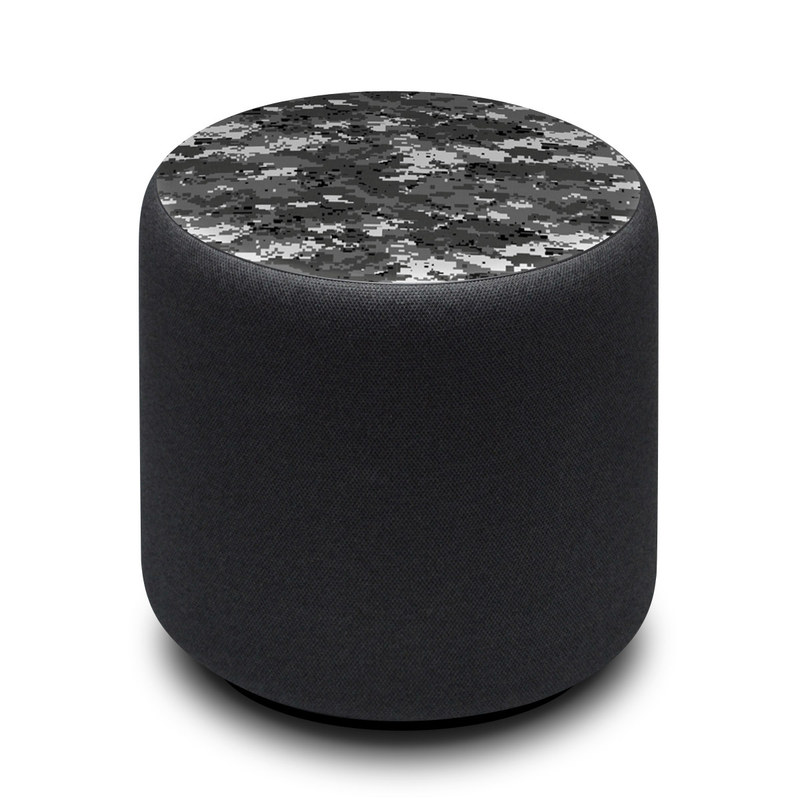 Amazon Echo Sub Skin design of Military camouflage, Pattern, Camouflage, Design, Uniform, Metal, Black-and-white with black, gray colors