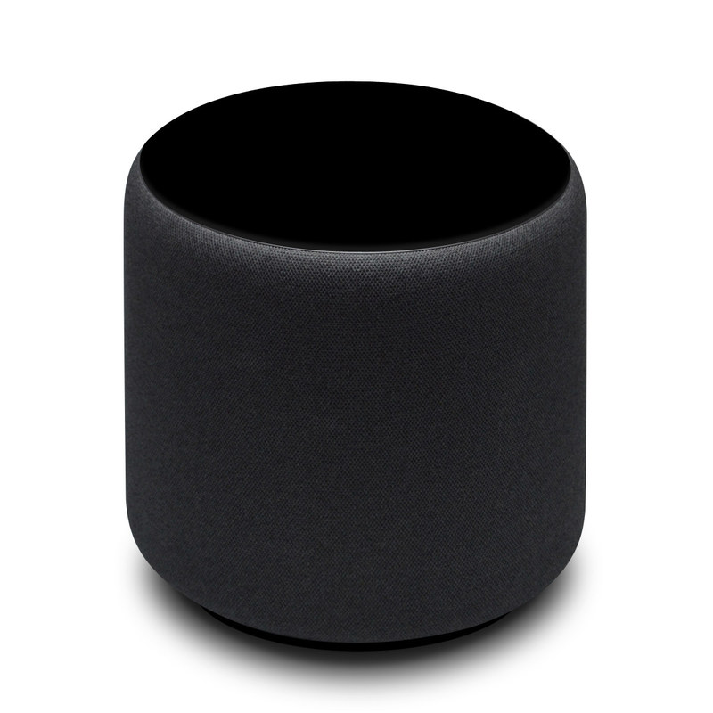 Amazon Echo Sub Skin design of Black, Darkness, White, Sky, Light, Red, Text, Brown, Font, Atmosphere with black colors