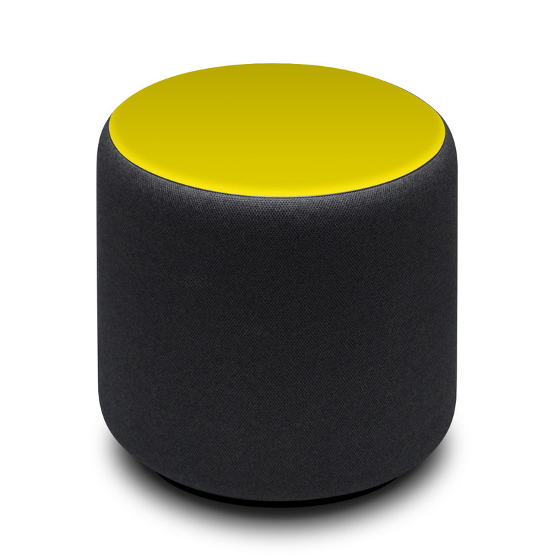Amazon Echo Sub Skin design of Green, Yellow, Orange, Text, Font with yellow colors