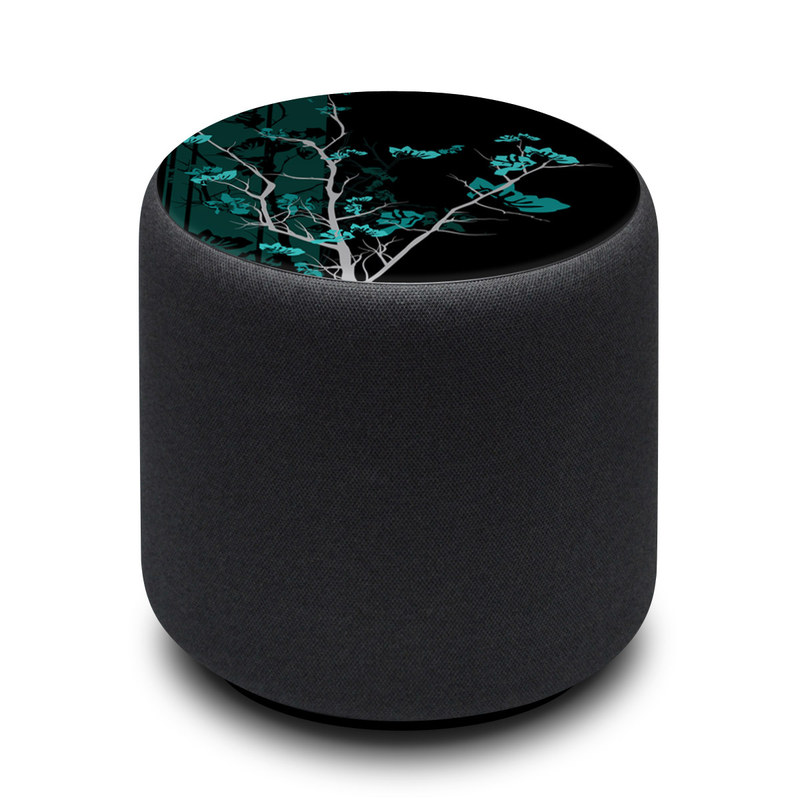 Amazon Echo Sub Skin design of Branch, Black, Blue, Green, Turquoise, Teal, Tree, Plant, Graphic design, Twig with black, blue, gray colors