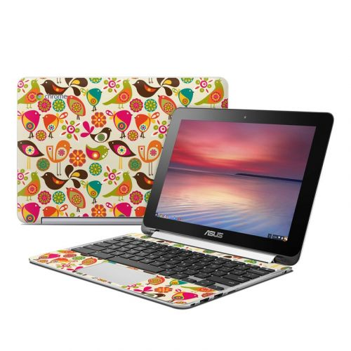 Bird Flowers Asus Chromebook Flip C100 Skin
