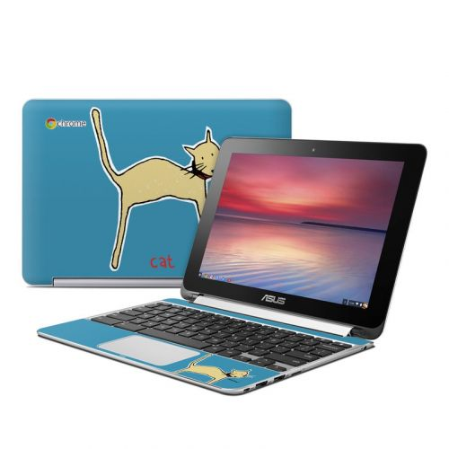 Cat Asus Chromebook Flip C100 Skin