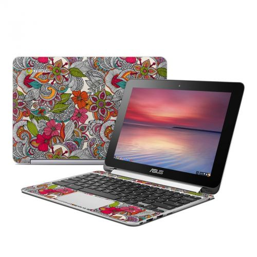 Doodles Color Asus Chromebook Flip C100 Skin