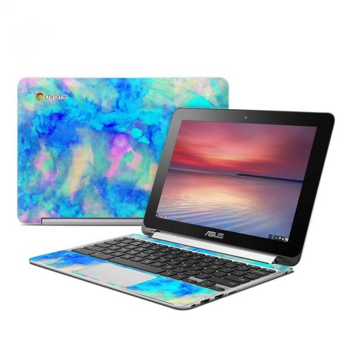 Electrify Ice Blue Asus Chromebook Flip C100 Skin