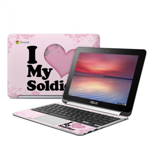 I Love My Soldier Asus Chromebook Flip C100 Skin