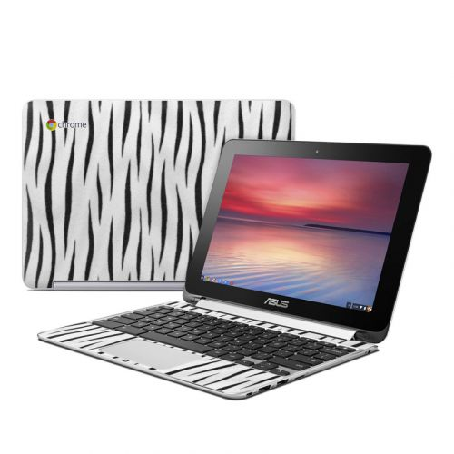 White Tiger Stripes Asus Chromebook Flip C100 Skin