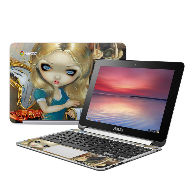 Alice in a Dali Dream Asus Chromebook Flip C100 Skin