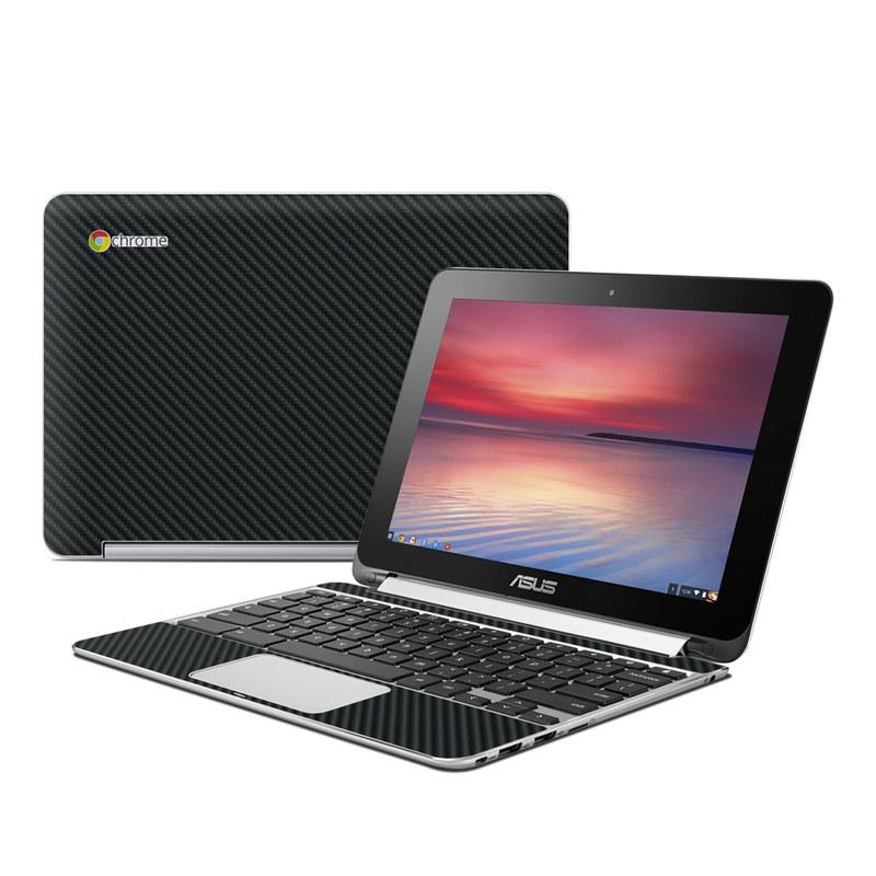 Carbon Fiber Asus Chromebook Flip C100 Skin
