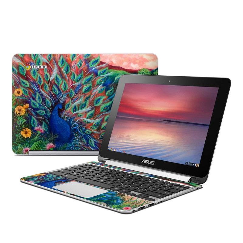 Coral Peacock Asus Chromebook Flip C100 Skin