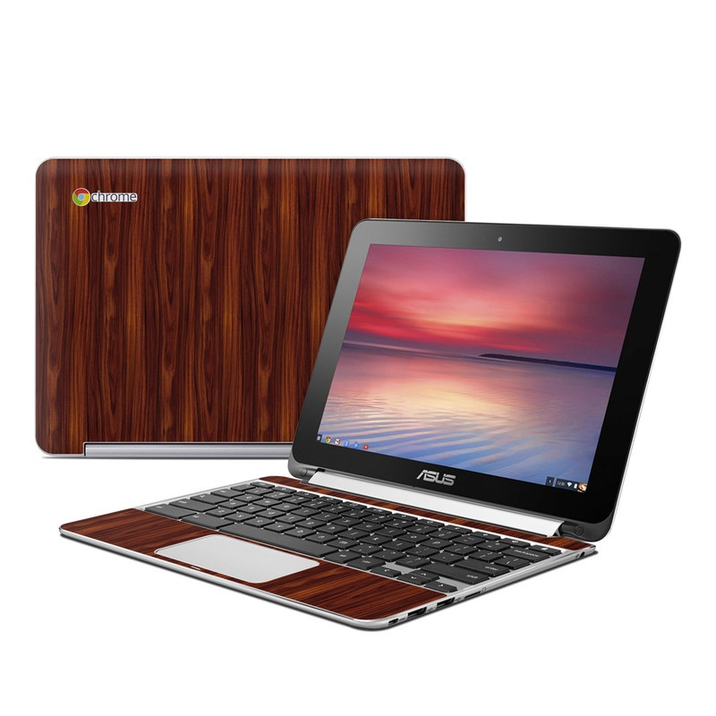 Dark Rosewood Asus Chromebook Flip C100 Skin
