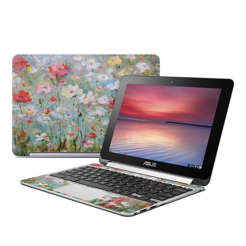 Flower Blooms Asus Chromebook Flip C100 Skin
