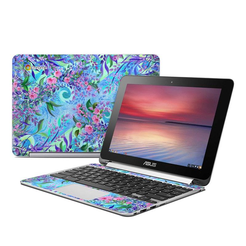Lavender Flowers Asus Chromebook Flip C100 Skin