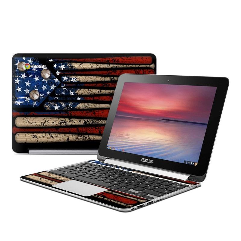 Old Glory Asus Chromebook Flip C100 Skin