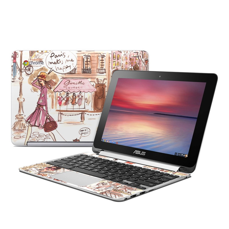 Paris Makes Me Happy Asus Chromebook Flip C100 Skin
