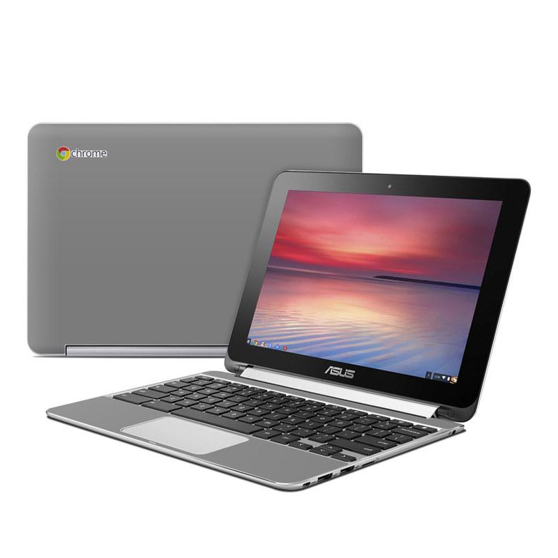 Solid State Grey Asus Chromebook Flip C100 Skin