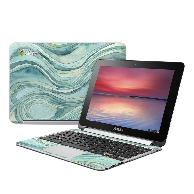 Waves Asus Chromebook Flip C100 Skin