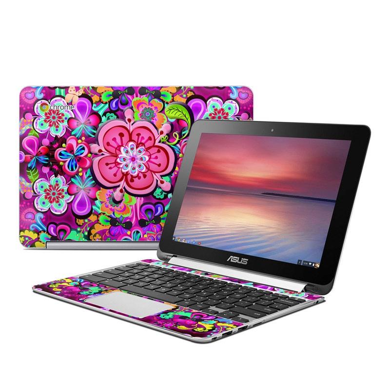 Woodstock Asus Chromebook Flip C100 Skin