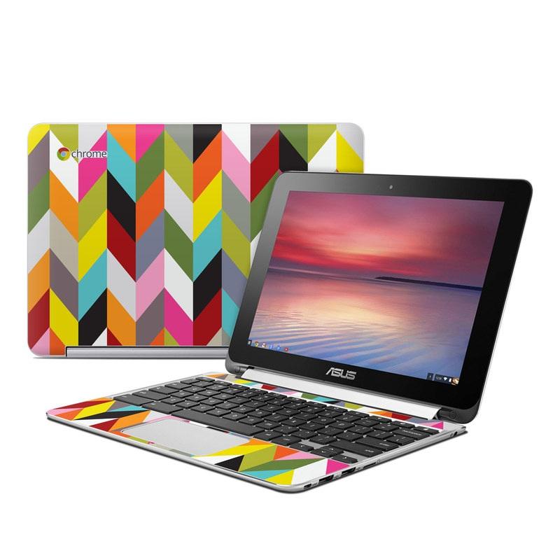 Ziggy Condensed Asus Chromebook Flip C100 Skin