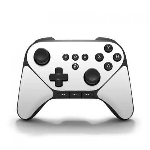 Solid State White Amazon Fire Game Controller Skin
