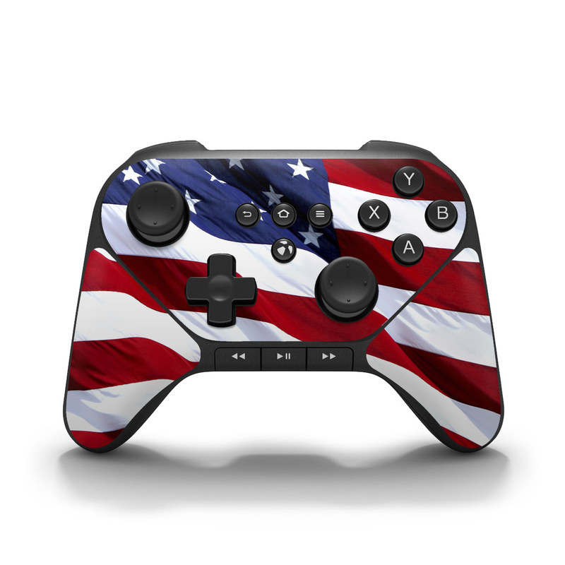 Patriotic Amazon Fire Game Controller Skin