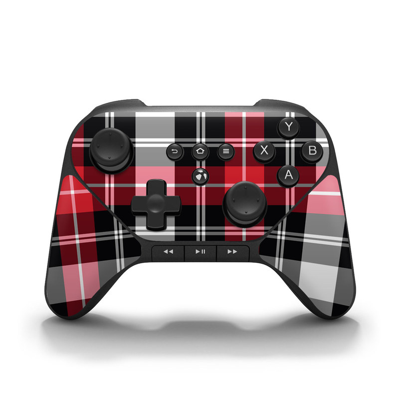 Red Plaid Amazon Fire Game Controller Skin