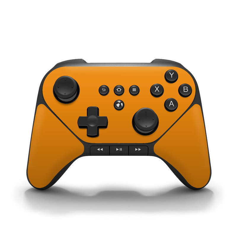 Solid State Orange Amazon Fire Game Controller Skin