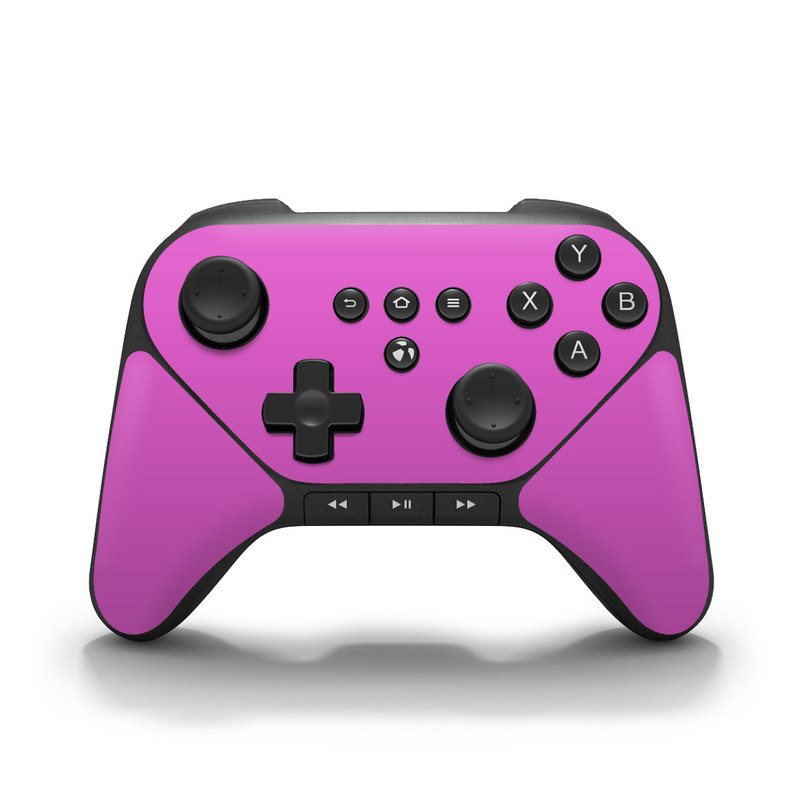 Solid State Vibrant Pink Amazon Fire Game Controller Skin
