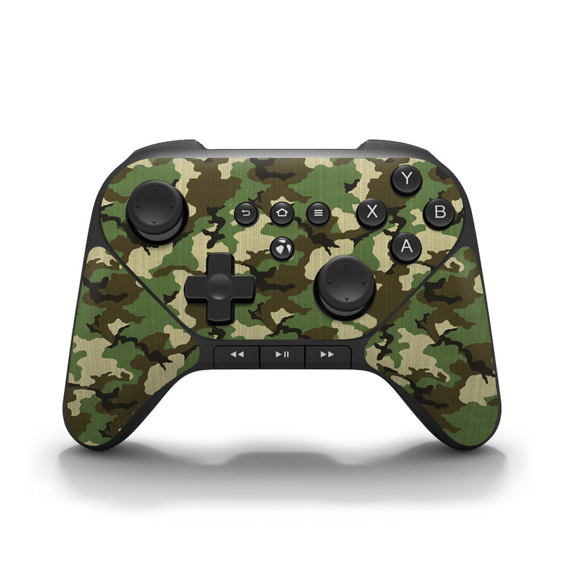 Woodland Camo Amazon Fire Game Controller Skin