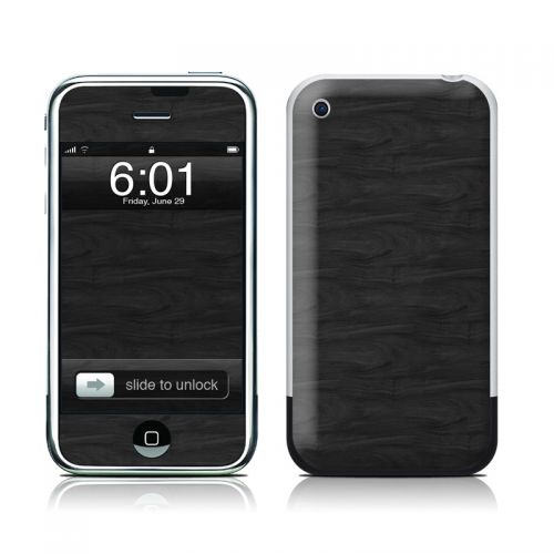 Black Woodgrain iPhone 1st Gen Skin