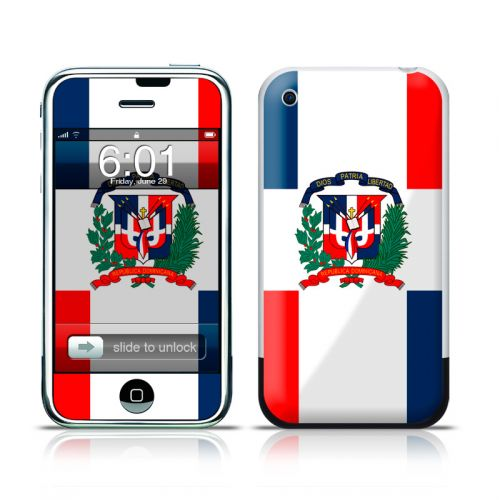 Dominican Republic Flag iPhone 1st Gen Skin