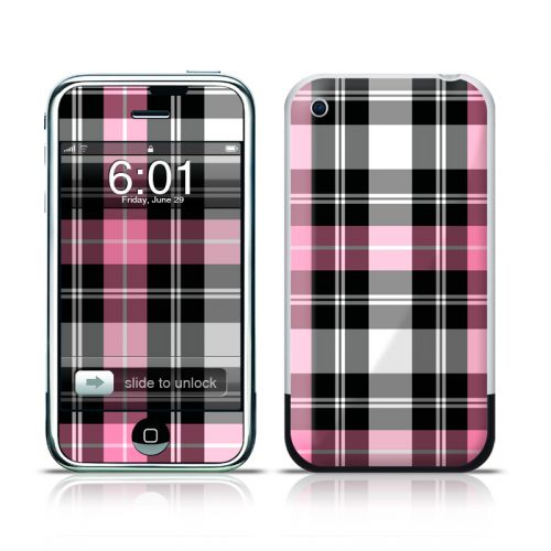 Pink Plaid iPhone 1st Gen Skin