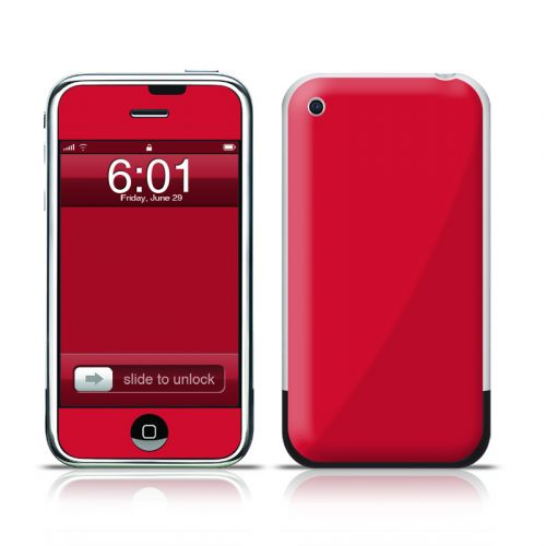 Solid State Red iPhone 1st Gen Skin