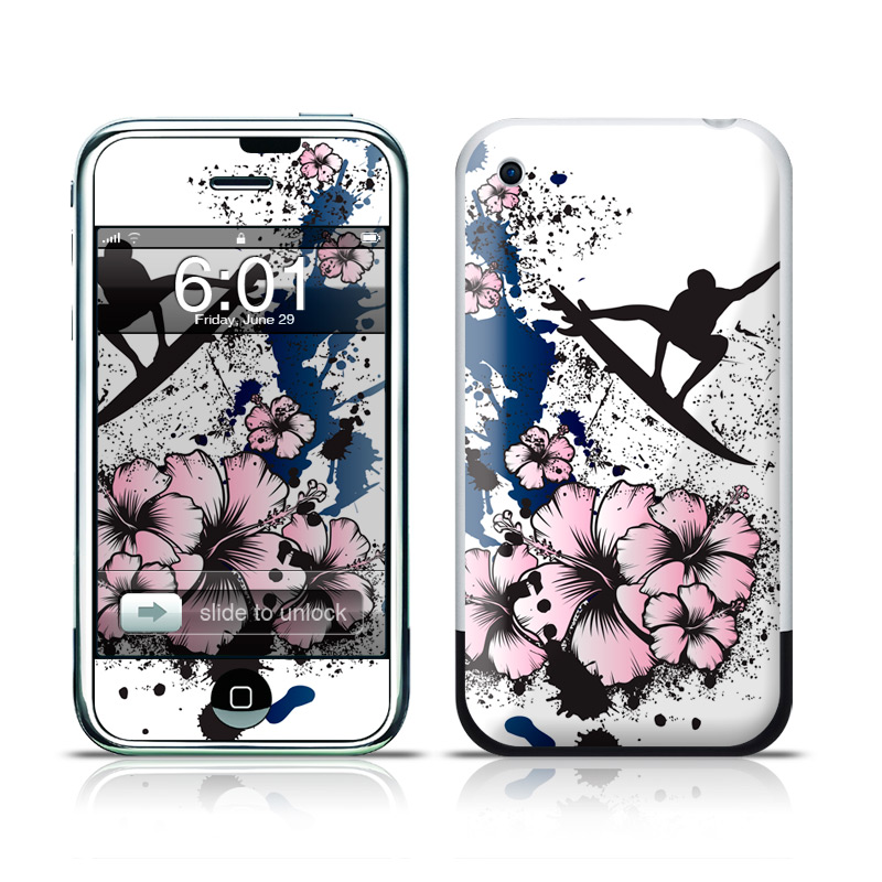 iPhone 1st Gen Skin design of Graphic design, Illustration, Happy, Fictional character, Art, Graphics, Kung fu with white, black, pink, blue colors
